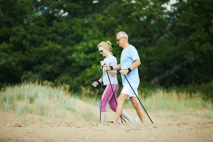 Trekking on sand