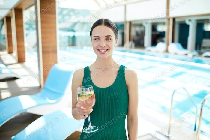 Girl at spa resort