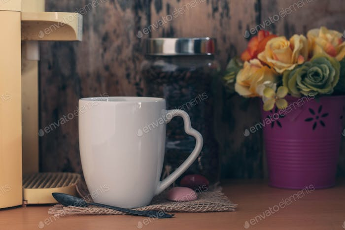 Coffee on a wooden