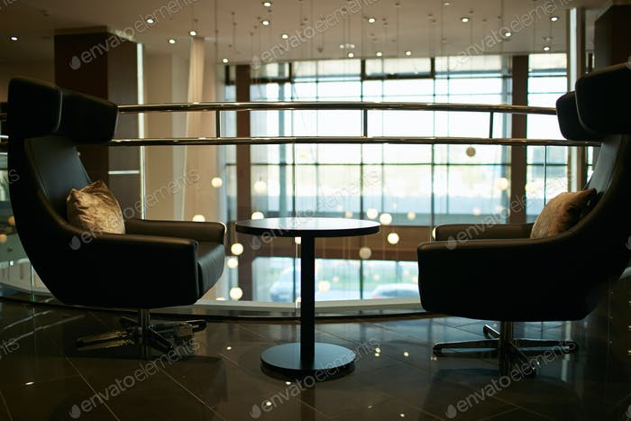 Waiting area in office building
