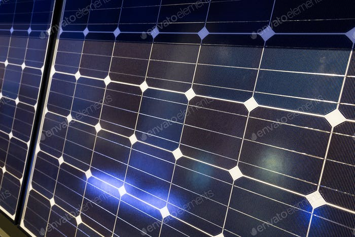 Solar panel detail abstract