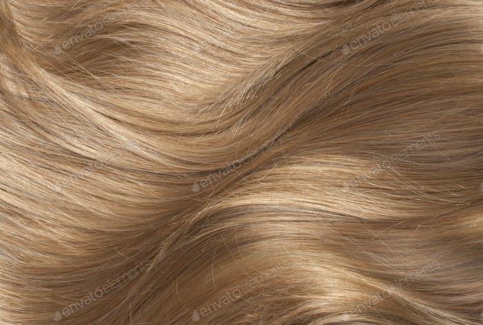 Wavy blond human hair