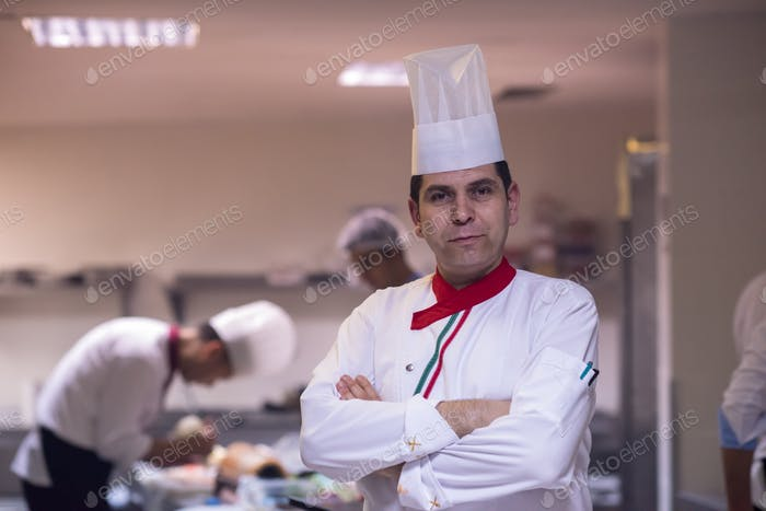 Portrait of young chef