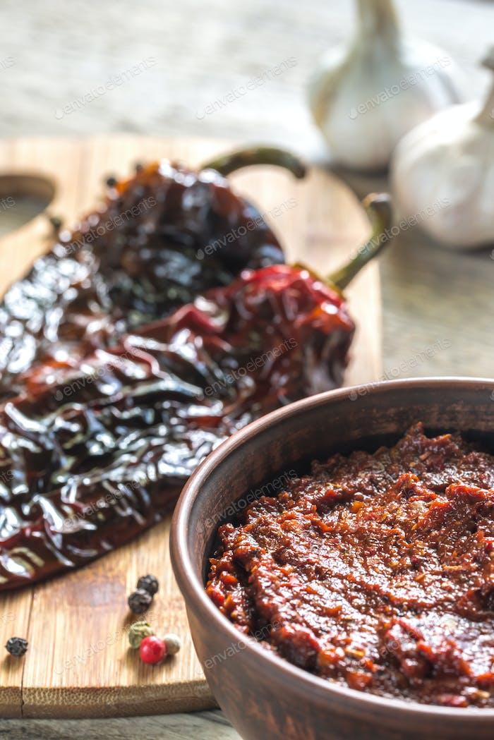 Bowl of adobo sauce