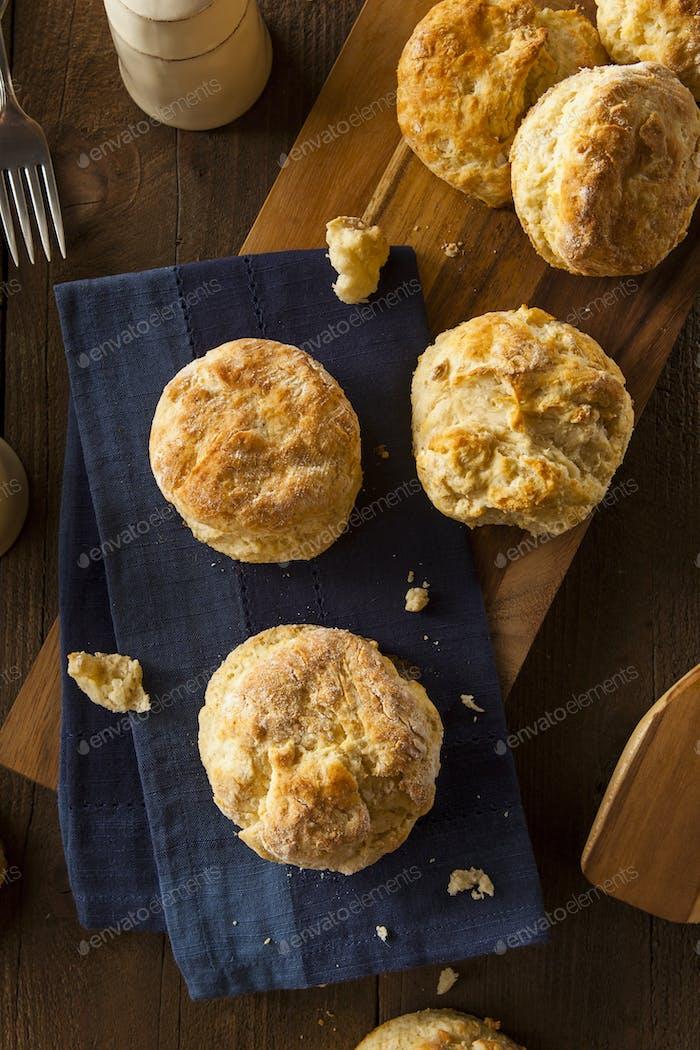 Hausgemachte Flakey Buttermilch Kekse