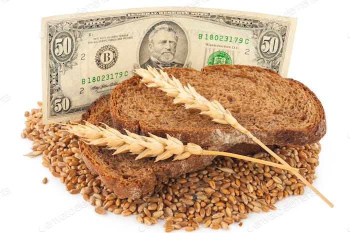 Slice bread with money