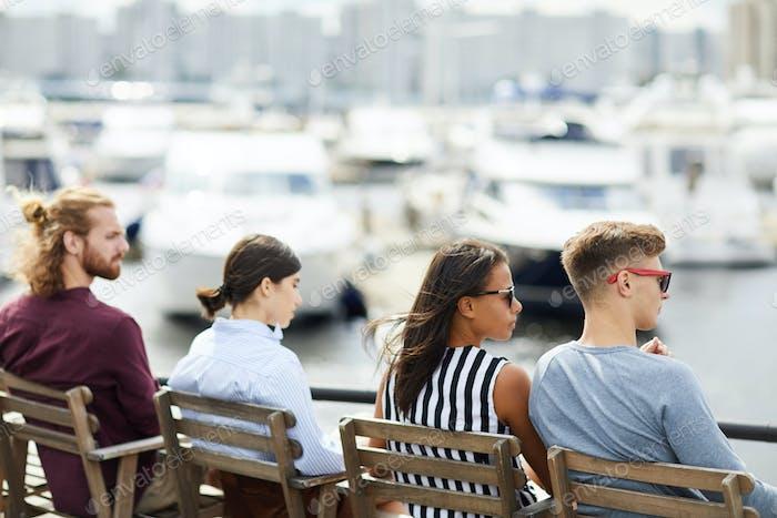 Looking at yachts