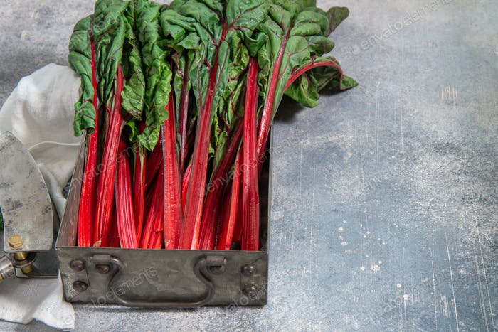 Red colored swiss chard