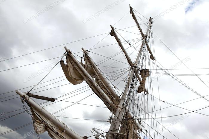 On a tall ship