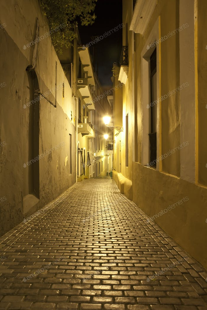 alley at night