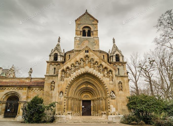 The Chapel of Jak in Vajdahunyad Castle. Budapest, Hungary.