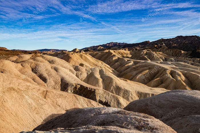 Red rocks in the Death Valley National Park creating a martian landscape