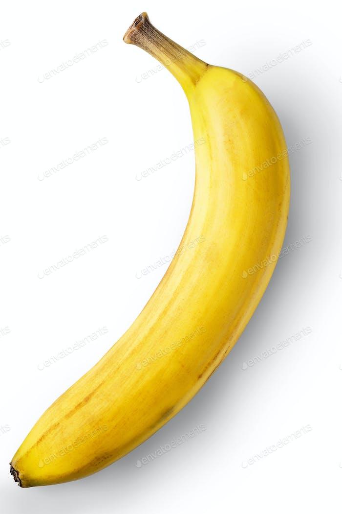 Banana on the white background