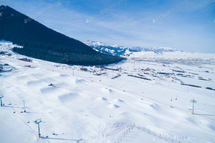 Snowboarding park