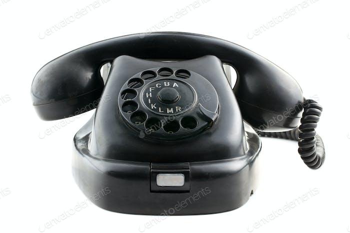 antikes schwarzes Telefon