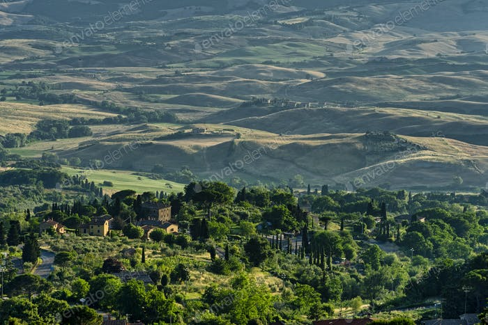 Panoramic view from Volterra, Tuscany