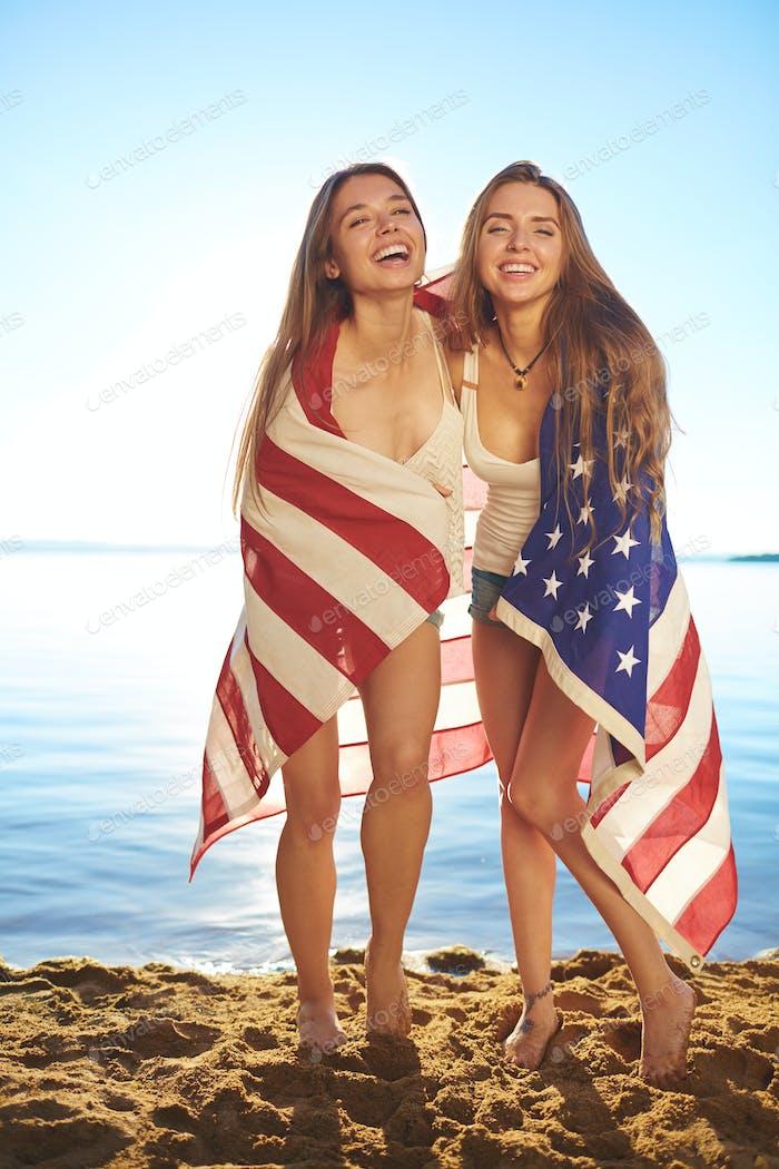 Amerikanische Mädchen