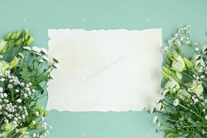 Frühlings-Hintergrund mit Blumen. Ostern, Muttertag, Frauentag, Geburtstagskarte