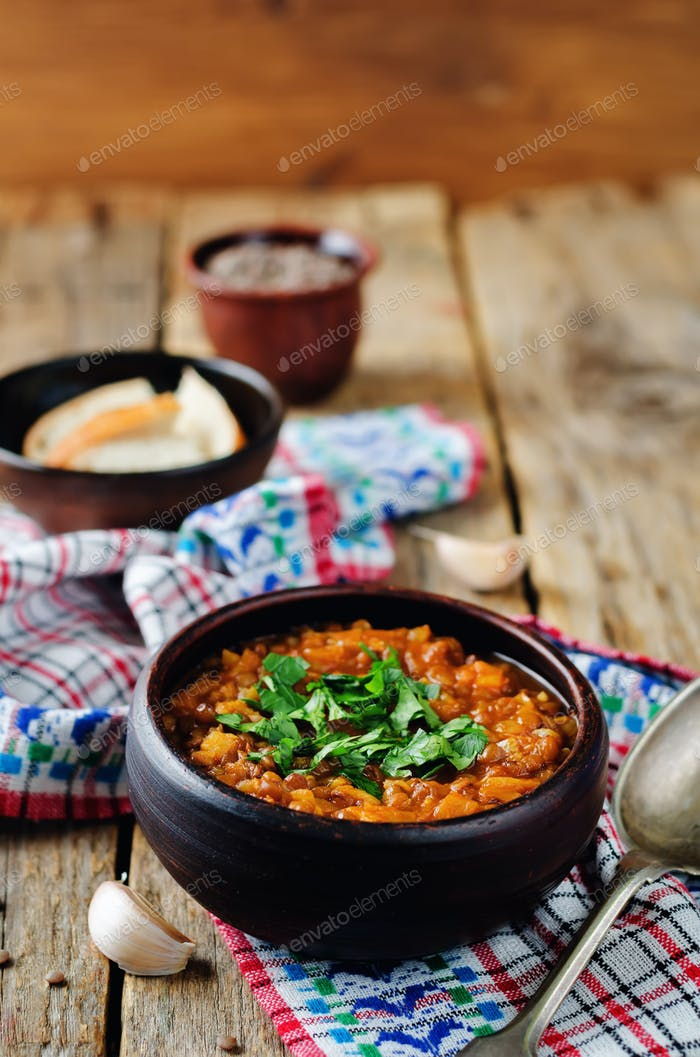 Cabbage Lentil stew