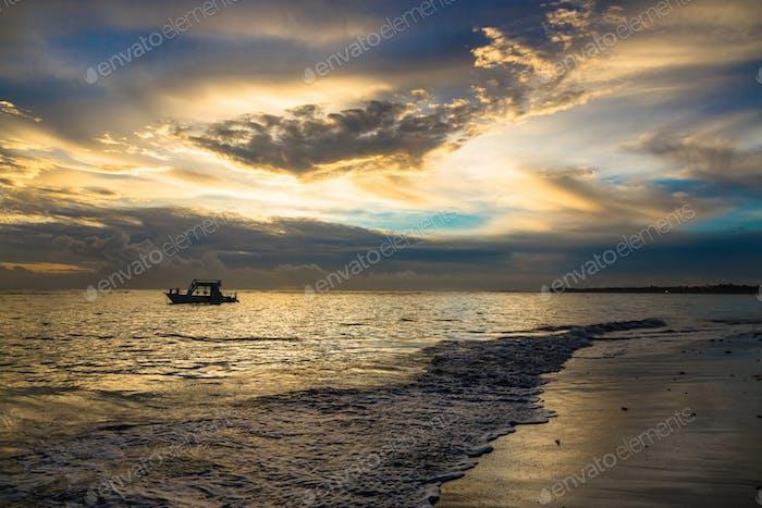 Beautiful sunset in Atlantic ocean