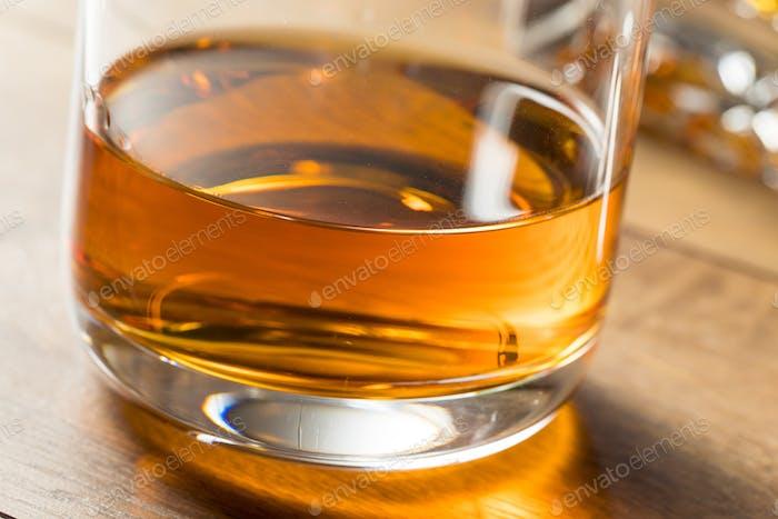 Boozy Alcoholic Whiskey Neat