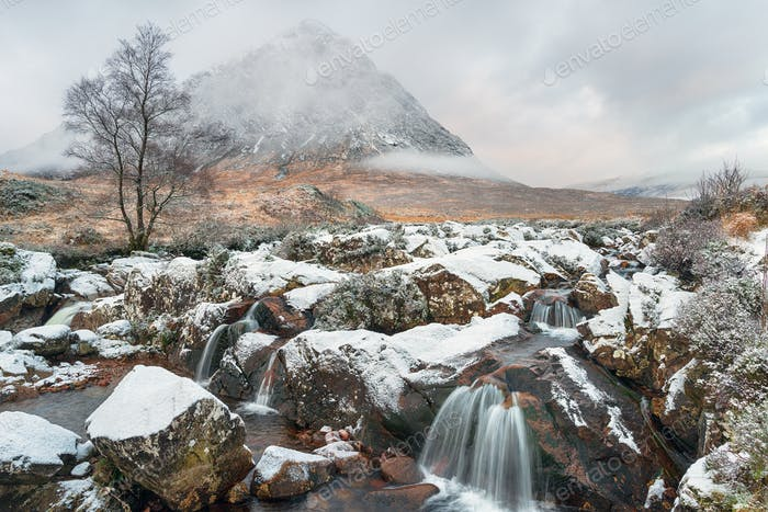 Snow at Buachaille Etive Mor