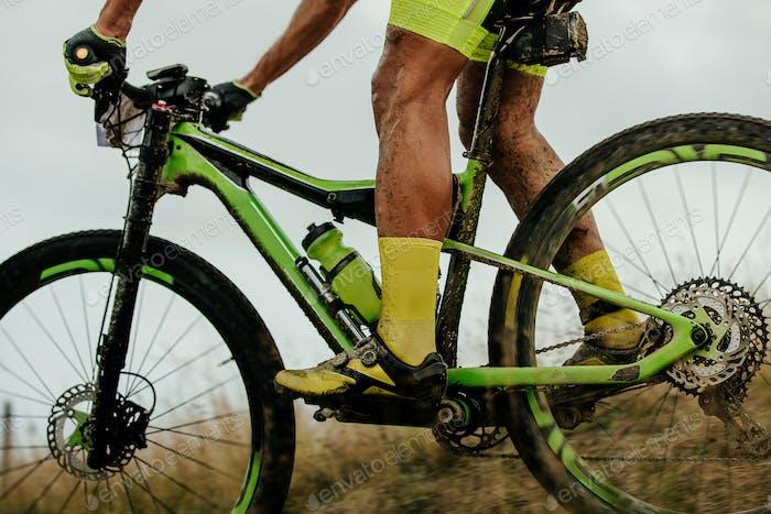 dirty feet athlete cyclist