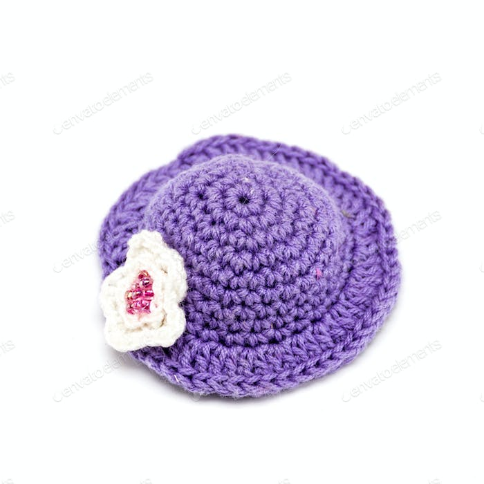 Knitted cap for a toy