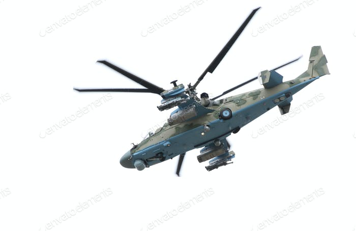 Russian helicopter Ka-52 (alligator).