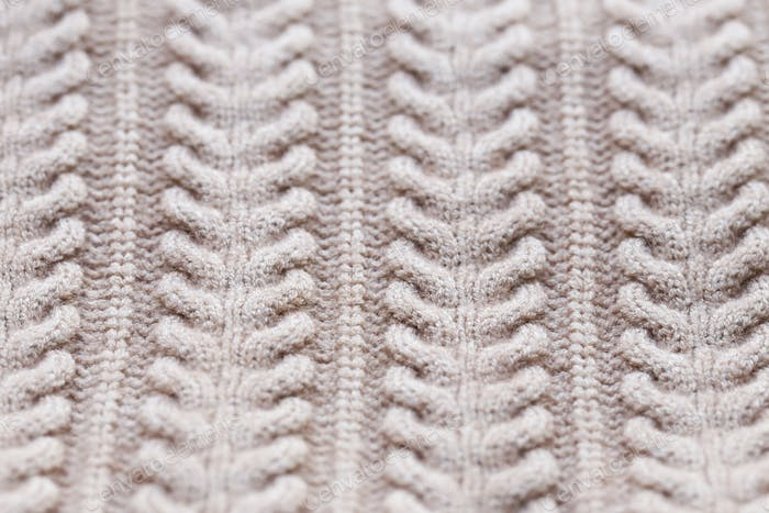 Knitted Beige Background