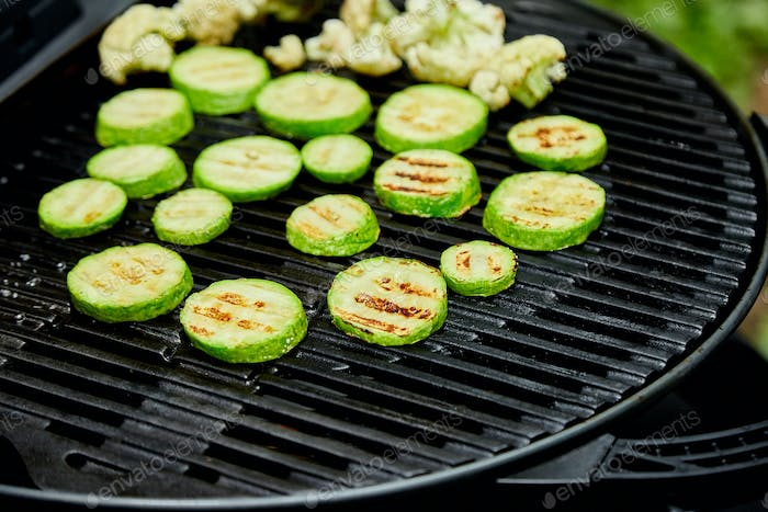 Grilled zucchini vegetable