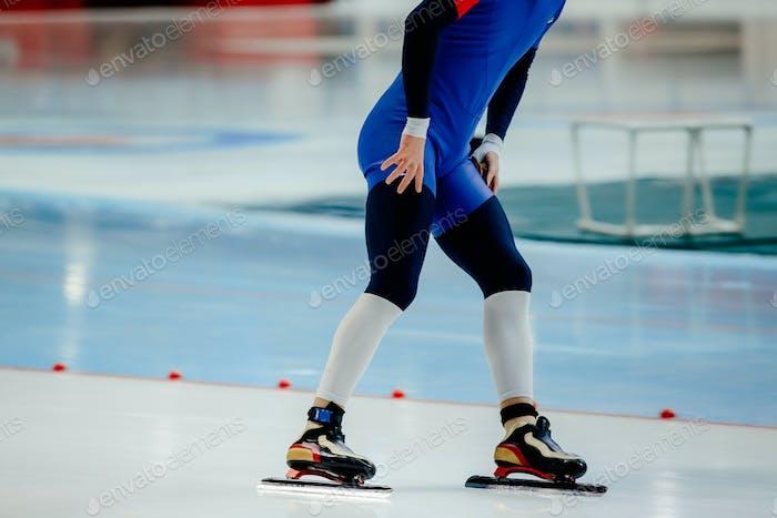 Fußsportler Skater auf Eissportarena