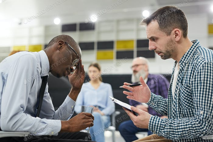 African Man in Mental Health Consultation