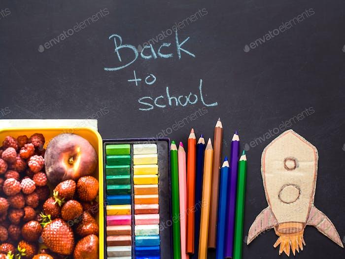 Zurück in die Schule, Schulmaterial und Mittagessen