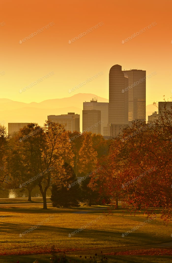 Sunny Denver Sonnenuntergang