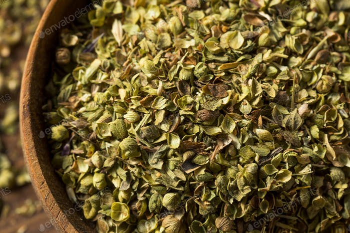 Raw Dried Green Greek Oregano Spice
