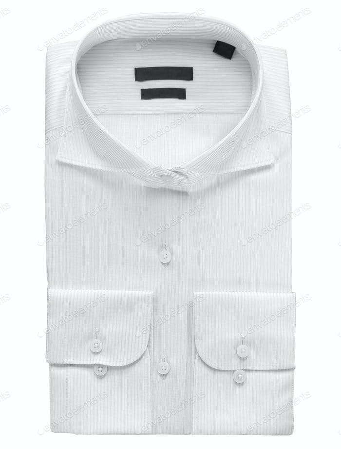 White shirt isolated on white background