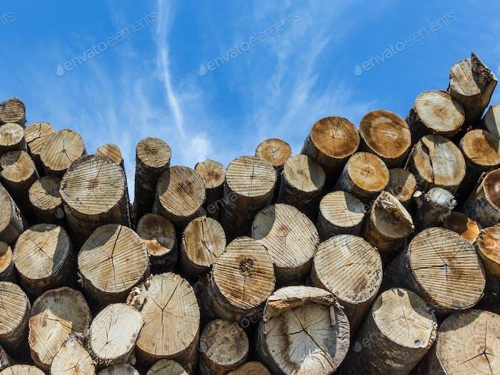 Stapeln aus Brennholz