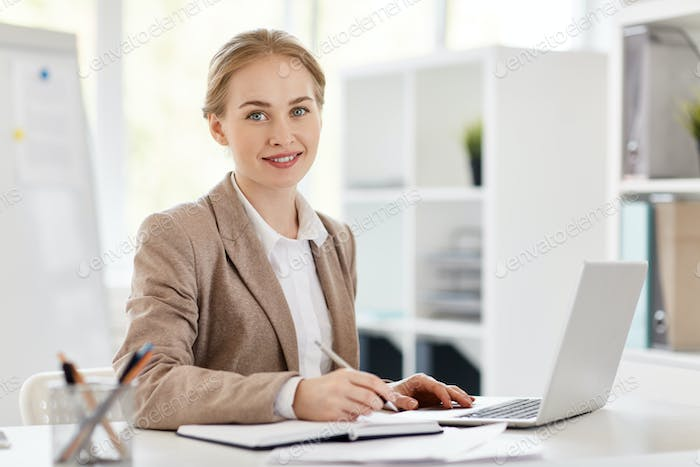 Accountant in office
