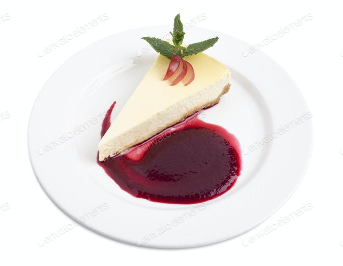 Delicious cheesecake.