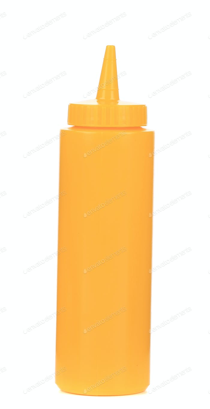 Mustard plastic bottle.