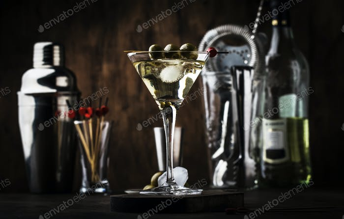 Cóctel de vodka Martini