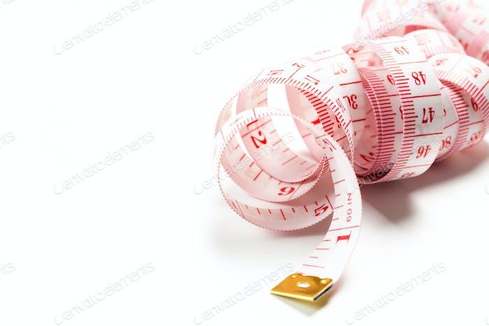 White color tape measure