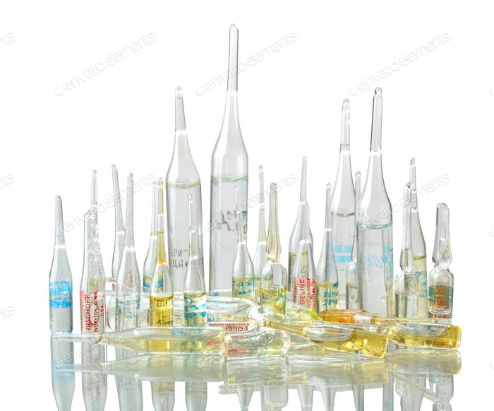 Medicaments in vials