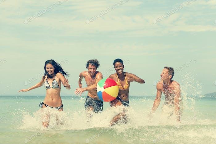 Beach Ball Sunshine Vacation Tropical Summer Concept