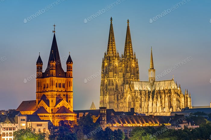 The famous cathedral and Great St. Martin Church