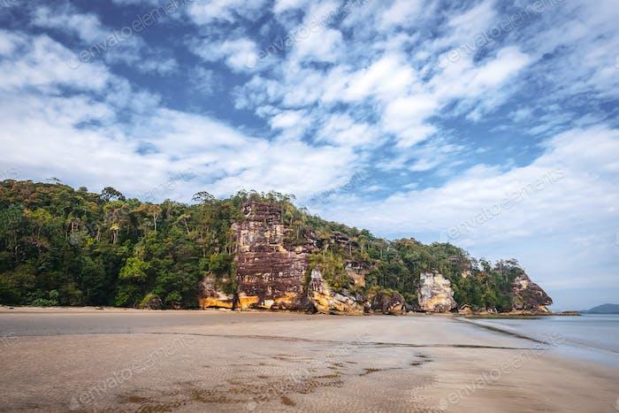 SARAWAK / MALAYSIA / JUNE 2014: Wild nature in the Bako national
