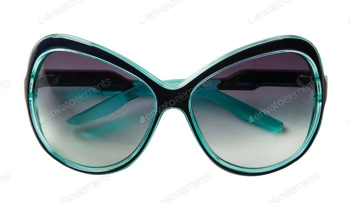 Turquoise rimmed vintage sunglasses
