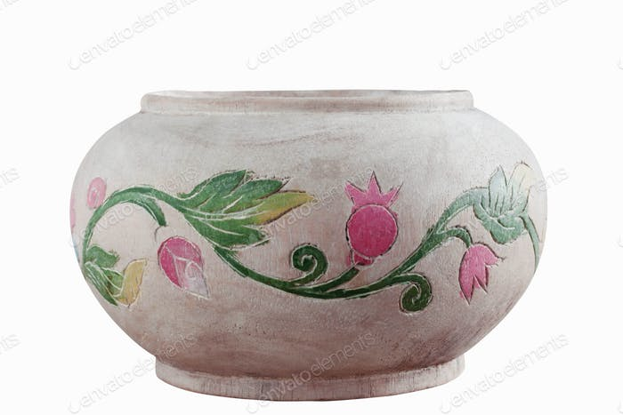 old vase with a white background
