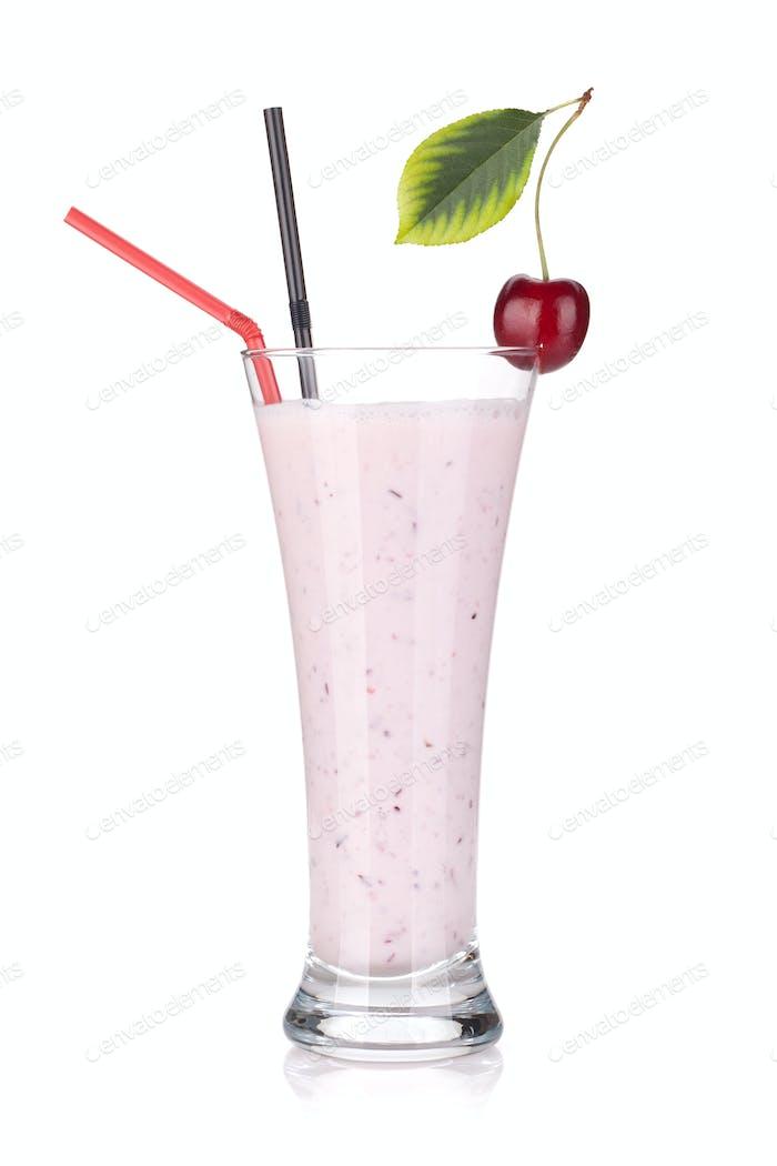 Cherry milk smoothie
